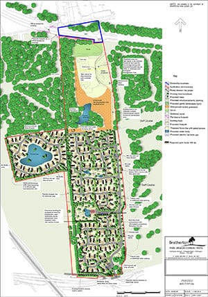 Initial Plan of Gateforth Park