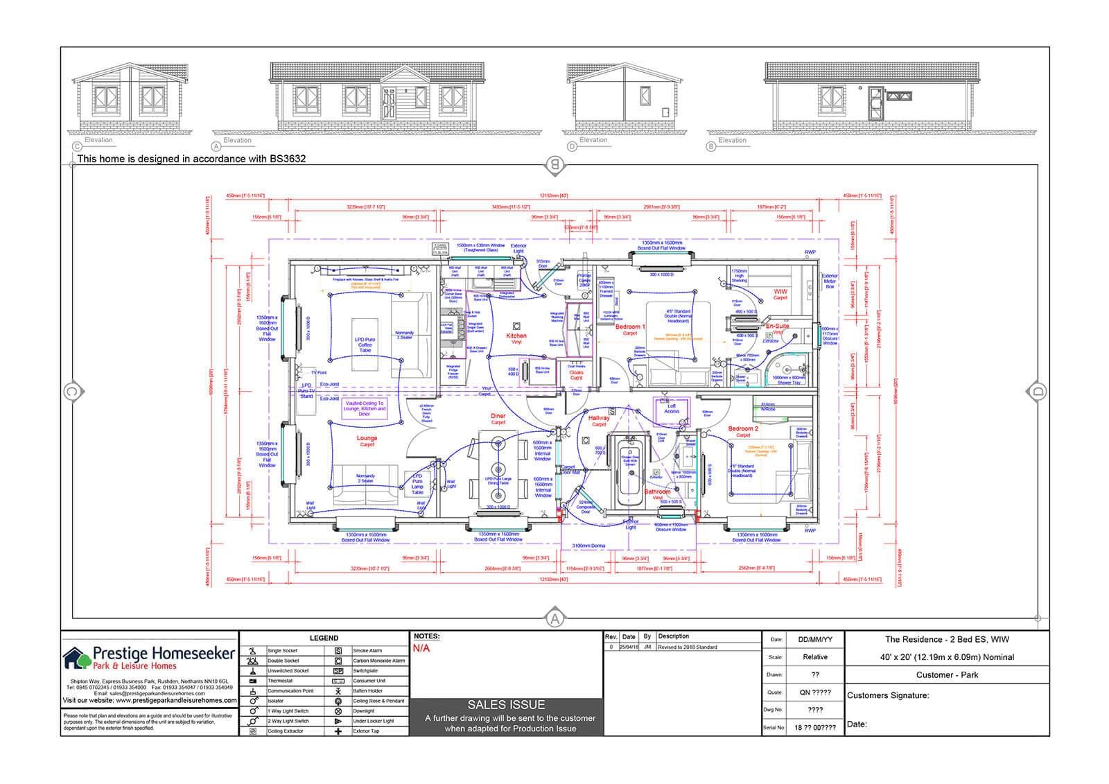 Residence 40x20 Floorplan