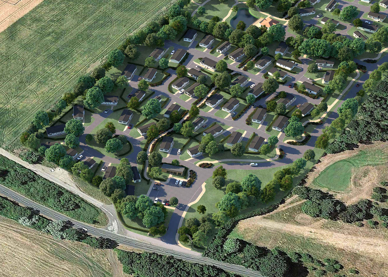 Gateforth Park CGI image Phase 1